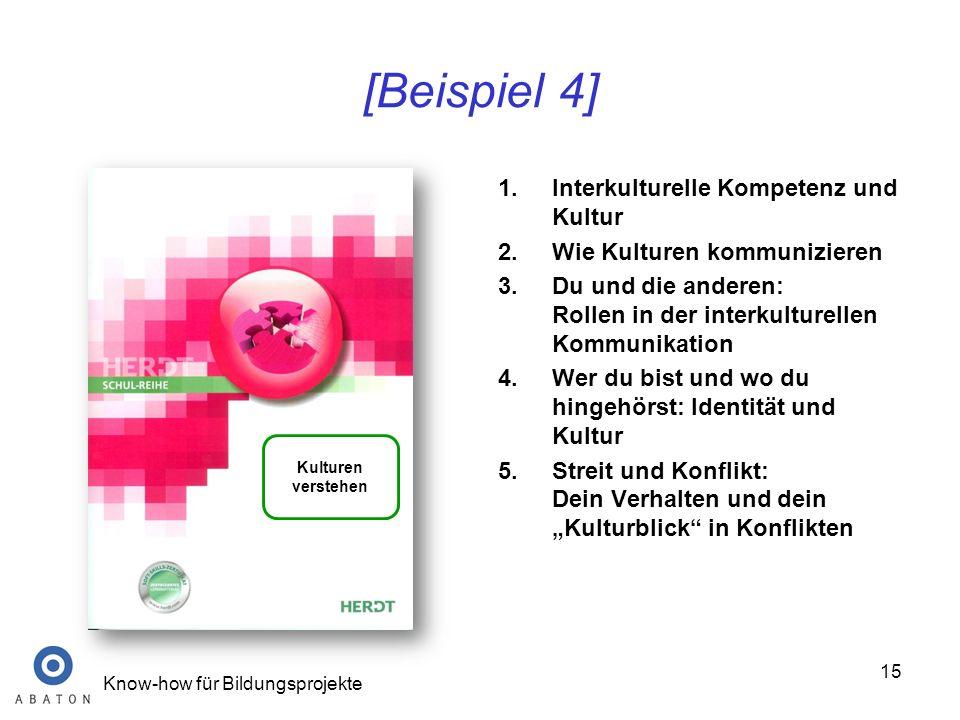 [Beispiel 4] Interkulturelle Kompetenz und Kultur